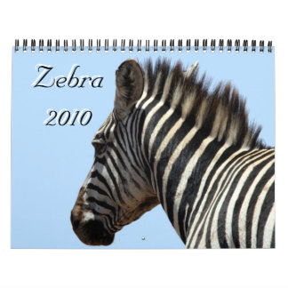 cebra 2010 calendarios de pared