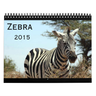 cebra 2015 calendario de pared