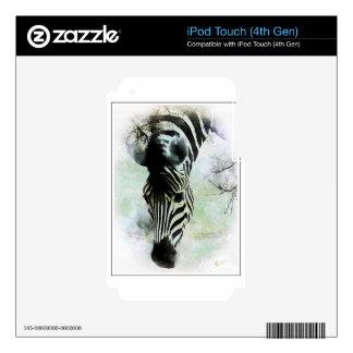Cebra abstracta calcomanía para iPod touch 4G