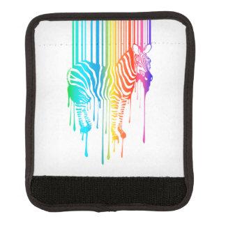 Cebra abstracta con el código de barras funda para asa de maleta
