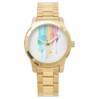 Cebra abstracta con el código de barras relojes de pulsera