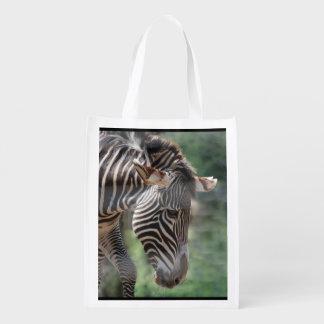 Cebra adorable bolsas reutilizables