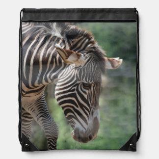 Cebra adorable mochila