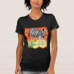 Cebra africana camiseta