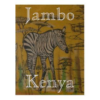 Cebra africana del safari de la vida salvaje de postales