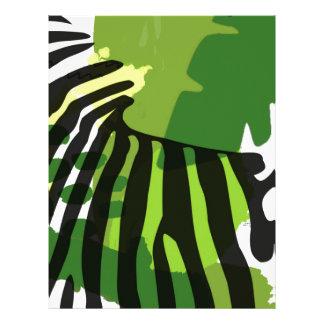 Cebra africana plantilla de membrete