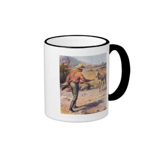 cebra africana taza de café