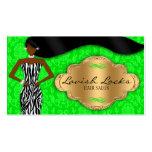 Cebra afroamericana del oro verde del estilista tarjeta de visita