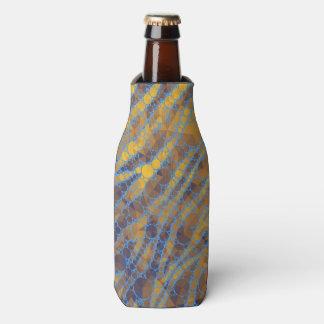 Cebra amarilla de los azules cielos enfriador de botellas
