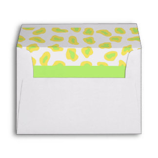 Cebra amarilla, del blanco y de la verde lima y sobres