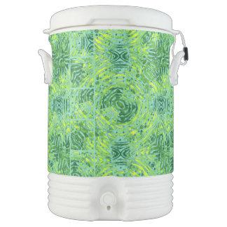 Cebra amarilla fluorescente de la turquesa refrigerador de bebida igloo