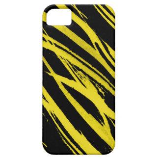 cebra amarilla funda para iPhone 5 barely there
