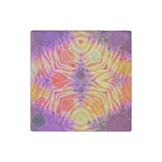 Cebra amarilla púrpura brillante imán de piedra