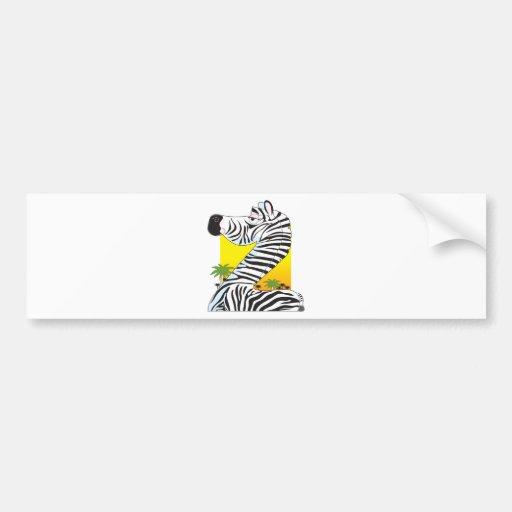 Cebra animal del alfabeto pegatina de parachoque
