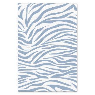 Cebra azul del safari de la roca papel de seda pequeño