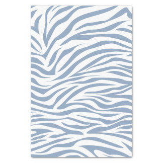 Cebra azul del safari de la roca papel de seda