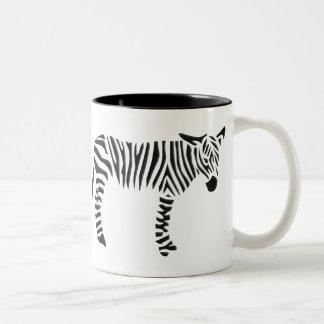 Cebra blanco y negro tazas de café