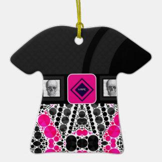 Cebra Bling de Vape de los cráneos Adorno De Cerámica En Forma De Camiseta