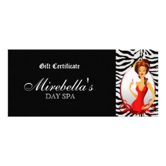 Cebra bonita de la mujer del vale del maquillaje d tarjetas publicitarias personalizadas