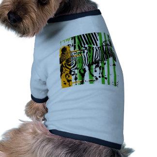 Cebra Camiseta Con Mangas Para Perro