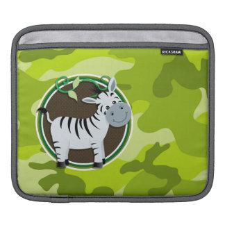 Cebra; camo verde claro, camuflaje funda para iPads
