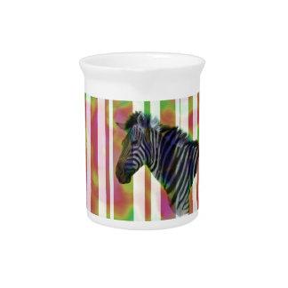 Cebra colorida jarrones