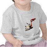 Cebra con actitud camiseta