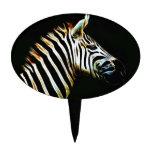 Cebra con las rayas blancos y negros en África Figuras De Tarta