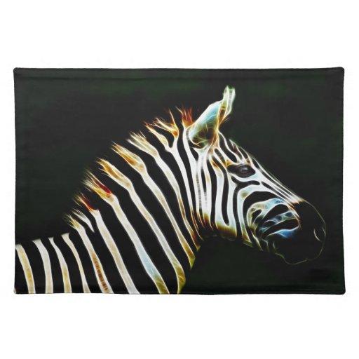 Cebra con las rayas blancos y negros en África Mantel