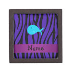Cebra conocida personalizada de la púrpura de la b caja de regalo de calidad