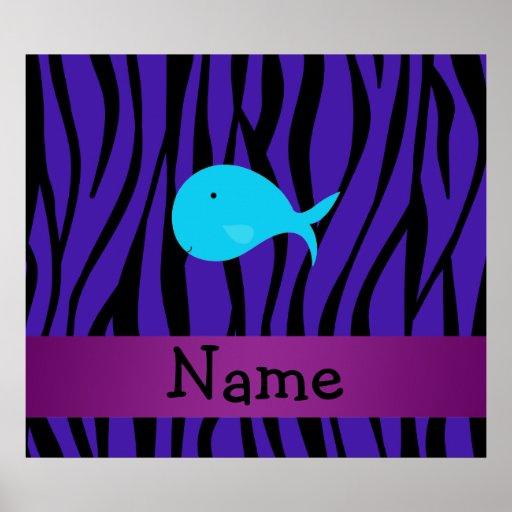 Cebra conocida personalizada de la púrpura de la b impresiones