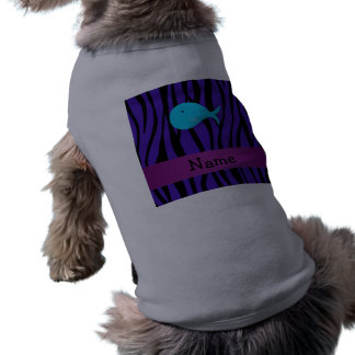 Cebra conocida personalizada de la púrpura de la b playera sin mangas para perro