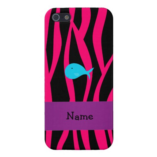 Cebra conocida personalizada del rosa de la ballen iPhone 5 funda