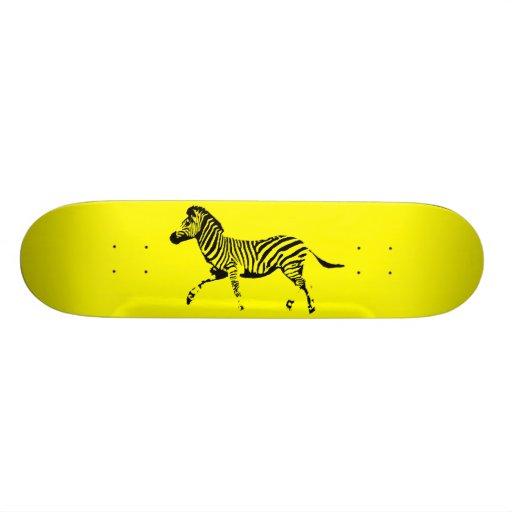 Cebra corriente amarilla patín