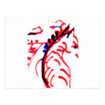 Cebra corriente roja y negra postales