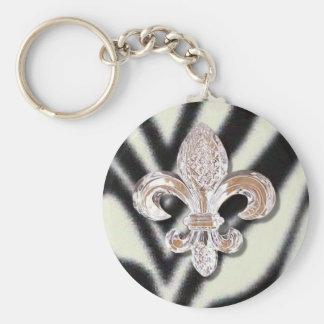 Cebra cristalina del carnaval de New Orleans de la Llavero Personalizado