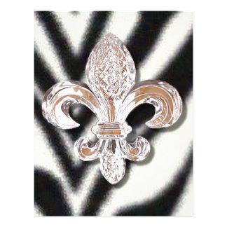 Cebra cristalina del carnaval de New Orleans de la Plantilla De Membrete