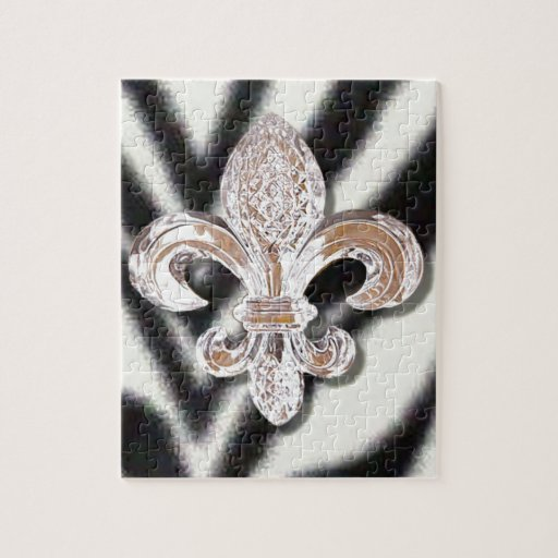 Cebra cristalina del carnaval de New Orleans de la Rompecabeza