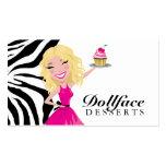 Cebra de Blondie de 311 postres de Dollface Plantilla De Tarjeta De Negocio
