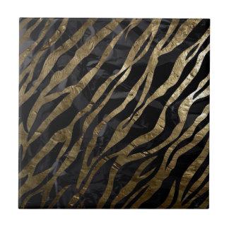 Cebra de Brown Azulejo Cuadrado Pequeño
