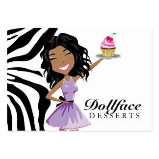 Cebra de Ebonie de 311 postres de Dollface 3,5 x 2 Tarjetas De Visita Grandes