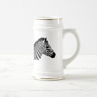 Cebra de la silueta jarra de cerveza