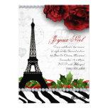 Cebra de la torre Eiffel de la tarjeta de París de Comunicados