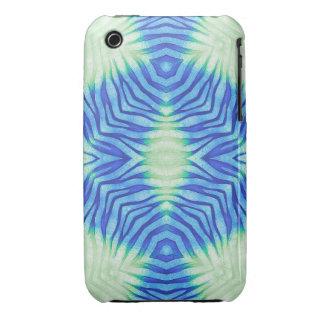 Cebra de las azules turquesas iPhone 3 Case-Mate cárcasa