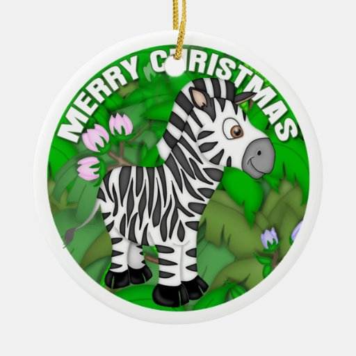 Cebra de las Felices Navidad Ornamento Para Reyes Magos