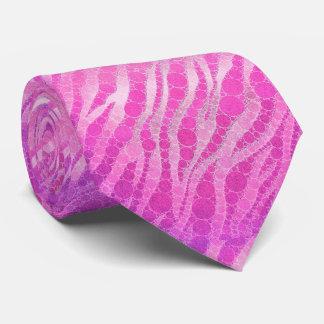 Cebra de las rosas fuertes corbatas personalizadas
