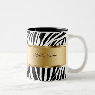Cebra de las tazas de café del monograma