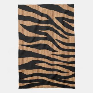Cebra de madera de la MOD Toallas