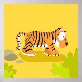 Cebra de mi serie de los animales del mundo posters