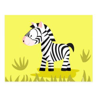 Cebra de mi serie de los animales del mundo tarjeta postal